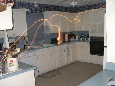 Orbs, strange lights, plasma and other indicators of spirit presence have been captured on film in Dan's home.