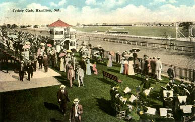A May 1921 Post Card of the Jockey Club from E. C. Kropp Co., Milwaukee Courtesy Sports in Hamilton, Ontario http://www.hamiltonpostcards.com/pages/sports.html
