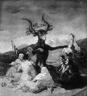 Goya's depiction of a devil.